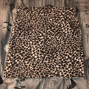 SNOW LEOPARD MICRO MINI SKIRT
